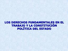 LOS DERECHOS FUNDAMENTALES EN EL TRABAJO, LA