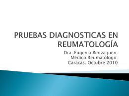 El Laboratorio en Reumatología. Pruebas