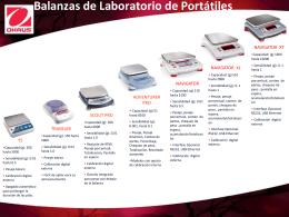 Diapositiva 1 - Ohaus Latinoamerica. Balanzas y