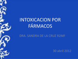 INTOXICACION POR FÁRMACOS