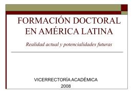 PROGRAMAS DE DOCTORADO EN AMÉRICA LATINA