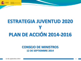 Plan de acción 2014-2016 de la estrategia Española