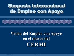 Visión del Empleo con Apoyo en el marco del CERMI