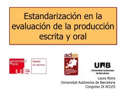 Estandarización en la evaluación de la producción