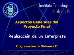 Instituto Tecnológico de Minatitlán.