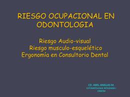 Riesgo Audio-visual Riesgo musculo