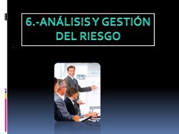 ANÁLISIS Y GESTIÓN DEL RIESGO