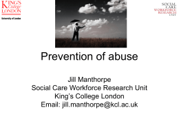Prevention of abuse - King`s College London