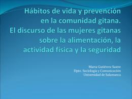 Hábitos de vida y prevención en la comunidad