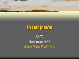 La relajacion - Josep Ribas