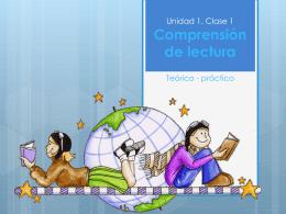 Unidad 1: Comprensión de lectura