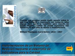 Implementación de un Sistema de Medición mediante