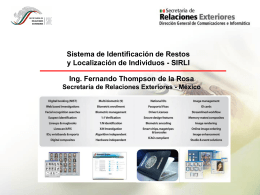 Valija Telecomunicaciones - Biometría