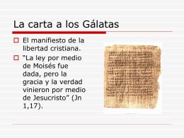 La carta a los Gálatas