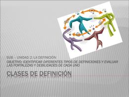 CLASES DE DEFINICIÓN