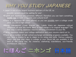 Why you study Japanese - Fairfax County Public