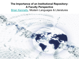 The Importance of an Institutional Repository: A