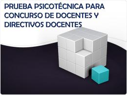 PRUEBA PSICOTÉCNICA PARA EL CONCURSO DE DOCENTES