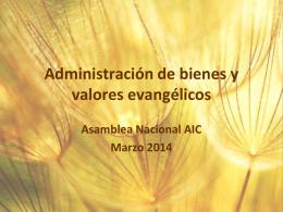 Administración de bienes y valores evangélicos
