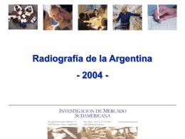 Radiografía de la Argentina 2004