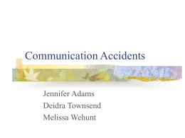 Communication Accidents - Emporia State University
