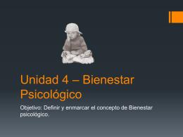 Unidad 4 – Bienestar Psicológico