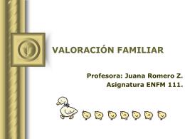 VALORACIÓN FAMILIAR