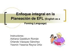 Enfoque integral en la planeación de EFL (English