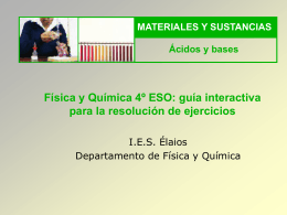 Física y Química 4º ESO: guía interactiva para la
