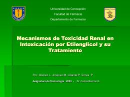 Mecanismos de Toxicidad Renal en Intoxicación por