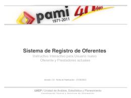 Curso de Capacitación del Sistema de Registro de