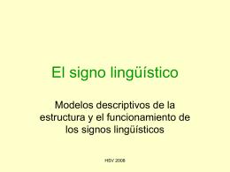 El signo lingüístico