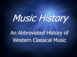 Music History - Junípero Serra High School