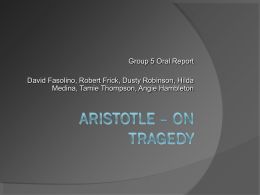 Aristotle – On Tragedy