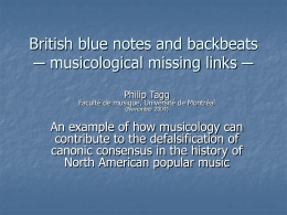 British blue notes and backbeats ─ musicological