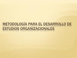 Metodología para el Desarrollo de Estudios