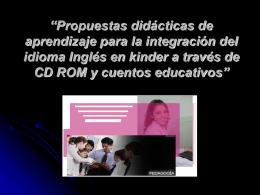 Propuestas didácticas de aprendizaje para la