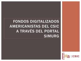 Fondos digitalizados americanistas del CSIC a