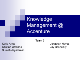 Team #3 Knowledge Management at Accenture