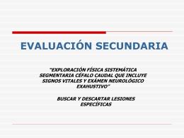 Evaluación secundaria