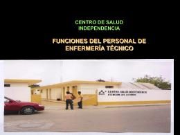 FUNCIONES DEL PERSONAL DE ENFERMERÍA TÉCNICO