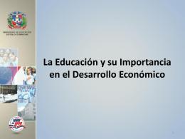 La Educación y su Importancia en el Desarrollo
