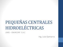 PEQUEÑAS CENTRALES HIDROELECTRICAS
