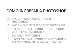 COMO INGRESAR A PHOTOSHOP