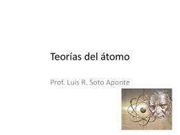 Teorías del átomo