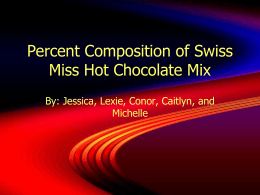 Percent Composition of Hot Chocolate Mix