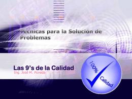 Las 9s de la Calidad - Ing. José Manuel Poveda |