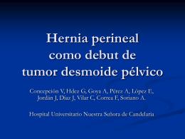 Hernia perineal como debut de tumor desmoide