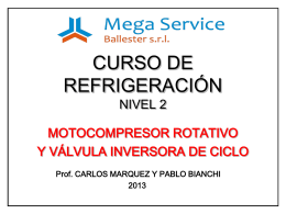 CURSO DE REFRIGERACIÓN NIVEL 2 MOTOCOMPRESOR