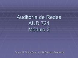 Auditoría de Redes AUD 721 Módulo3